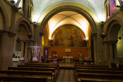 Paray Le Monial, France - 13 septembre 2016 : À l'intérieur de la chapelle Images libres de droits