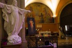 Paray Le Monial, France - 13 septembre 2016 : À l'intérieur de la chapelle Photographie stock libre de droits