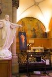 Paray Le Monial, France - 13 septembre 2016 : À l'intérieur de la chapelle Image stock
