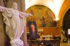 Paray Le Monial, France - 13 septembre 2016 : À l'intérieur de la chapelle Photo stock