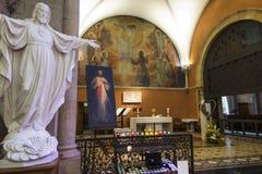 Paray Le Monial, France - 13 septembre 2016 : À l'intérieur de la chapelle Image libre de droits