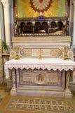 Paray-le-Monial, France - 13 septembre 2016, reliques de rhe de St photo stock