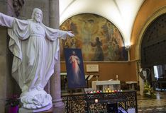 Paray Le Monial, Frankrijk - September 13, 2016: Binnen de kapel Royalty-vrije Stock Afbeeldingen