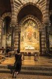 Paray Le Monial, Frankrijk - September 13, 2016: Heiligdom van St C Stock Fotografie