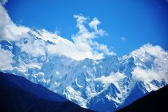 Parbat poderoso y del asesino de la montaña de Nanga Fotografía de archivo