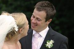 parbröllop royaltyfria foton