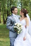 parbröllopbarn Arkivbild