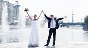 parbröllopbarn Royaltyfri Fotografi