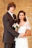 parbröllopbarn royaltyfri foto