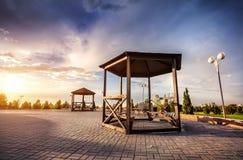 Parc à Almaty Photo stock