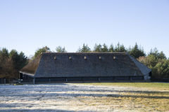 Parc à moutons en hiver Photo libre de droits