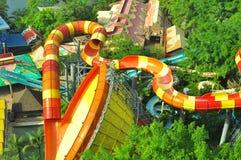 Parc à thème de l'eau de lagune de Sunway au-dessus de vue photographie stock libre de droits