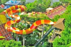 Parc à thème de l'eau de lagune de Sunway au-dessus de vue photos libres de droits