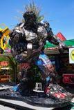 Parc à thème en acier réutilisé de robots en métal au spectacle d'animaux de Hua Hin Tique : Modèle de patriote de fer Photographie stock