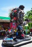 Parc à thème en acier réutilisé de robots en métal au spectacle d'animaux de Hua Hin Tique : Modèle de patriote de fer Photographie stock libre de droits