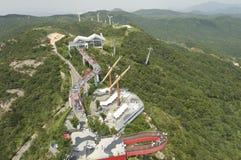 Parc à thème sur la montagne Images libres de droits