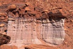 Parc-île nationale d'UT-Canyonlands dans le ciel Rim Road blanc secteur Image stock