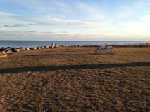 Parc abandonné par l'océan Photographie stock libre de droits