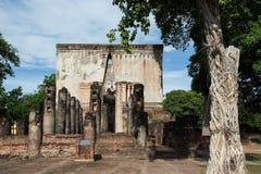 Parc antique de Wat Srichum In Sukhothai Historical Image stock