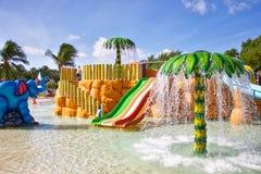 Parc aquatique de station de vacances Images stock