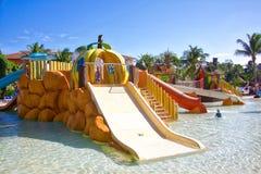 Parc aquatique de station de vacances Photo libre de droits