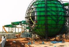 Parc aquatique en construction Photographie stock
