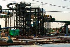 Parc aquatique en construction Image stock