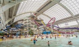 Parc aquatique occidental de mail d'Edmonton Photo stock