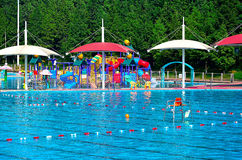Parc aquatique vide Photo libre de droits