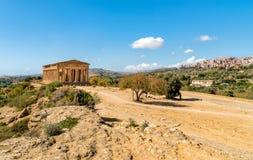 Parc archéologique de la vallée des temples à Agrigente, Sicile images libres de droits