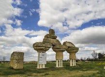 Parc archéologique de ruines de policoro romain de metaponto Photographie stock