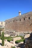 Parc archéologique de Jérusalem, mur du sud Photographie stock libre de droits