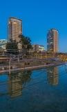 Parc avec l'étang à Barcelone photo libre de droits