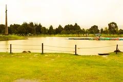 Parc avec le lac l'?t? Sunny Day images libres de droits