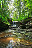 Parc bleu de Hen Falls Cuyahoga Valley National Photo stock