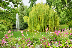 Parc in centre of Epernay, France Stock Photography