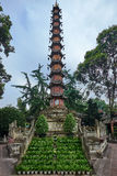 Parc Chengdu Sichuan Chine de monastère de Wenshu Images libres de droits