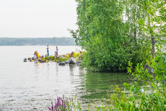 Parc chez Ekaterinburg image stock