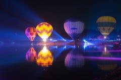 Parc Chiang Rai de Singha Silhouettes et tache floue de ballon Photo libre de droits