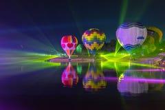 Parc Chiang Rai de Singha Silhouettes et tache floue de ballon Photo stock