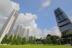 Parc commémoratif de guerre de paysage urbain de Singapour images libres de droits