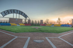 Parc commémoratif pour le stade de Rosenblatt en Omaha Nebraska photographie stock libre de droits