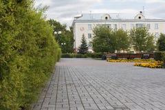 Parc d'été dans la ville Satka image stock
