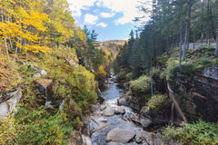 Parc d'état d'entaille de Franconia, New Hampshire, Etats-Unis photo stock