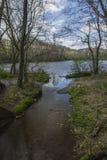 Parc d'état de bancs de sycomore, Elizabethton, TN Photo libre de droits