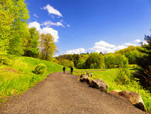 Parc d'état de barrage de ruisseau d'houblon dans Naugatuck Photographie stock