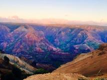 Parc d'état de canyon de Waimea dans Kauai Hawaï Photos libres de droits