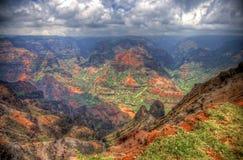 Parc d'état de canyon de Waimea, Kauai, Hawaï Photographie stock