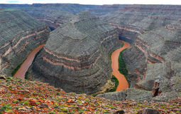 Parc d'état de cols de cygne, Utah, Etats-Unis Images stock