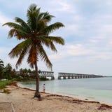 Parc d'état de détente et l'explorant de Bahia Honda Images stock